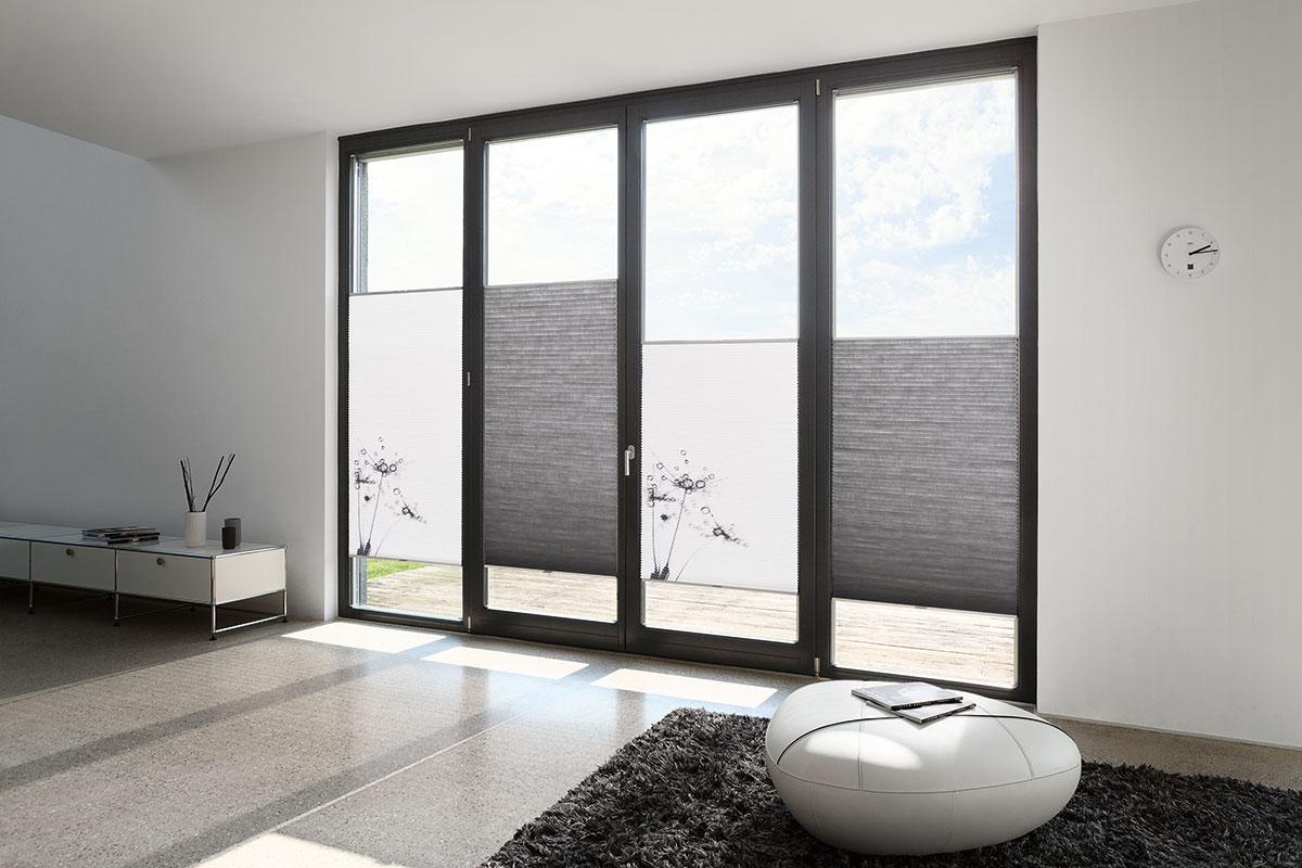 plissees allrounder f r den innenliegenden sonnenschutz. Black Bedroom Furniture Sets. Home Design Ideas